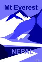 Everest Blue - Text Poster