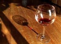 Wine glass with shadow