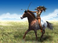 The Plains Buffalo Huntress
