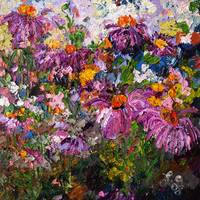 Echinacea Healing Plants From Original Oil Paintin