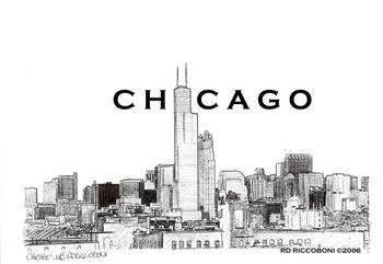 Chicago Skyline Chicago Art By Riccoboni By Rd Riccoboni