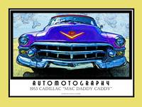 1953 Cadillac Mac Daddy Caddy Poster Gold Border