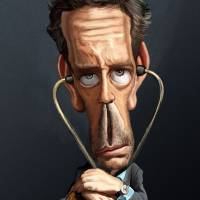 House-Md-Caricature Art Prints & Posters by Nelson Santos