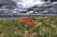 Red Dory on Shore Rd (HDR)