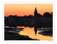 Bosham after sunset. West Sussex England UK