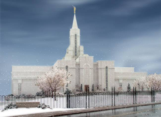 LDS Temples / Bountiful Temple / Winter