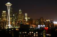Seattle City Skyline @ night