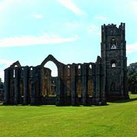 Fountains Abbey in Summer 13 by Priscilla Turner