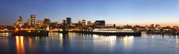 Montreal Skyline at Dusk (Panoramic)