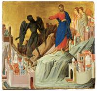 Duccio Di Buoninsegna's Temptation of Christ