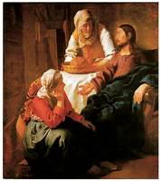 Jan Vermeer's Christ in House of Martha and Mary