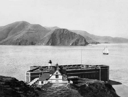 Golden Gate Bridge and Fort Point, c1890 San Franc