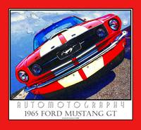 1965 Mustang GT Poster Red Border
