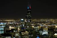sears tower at night