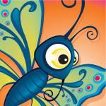 critterz-butterfly-blueorange Prints & Posters