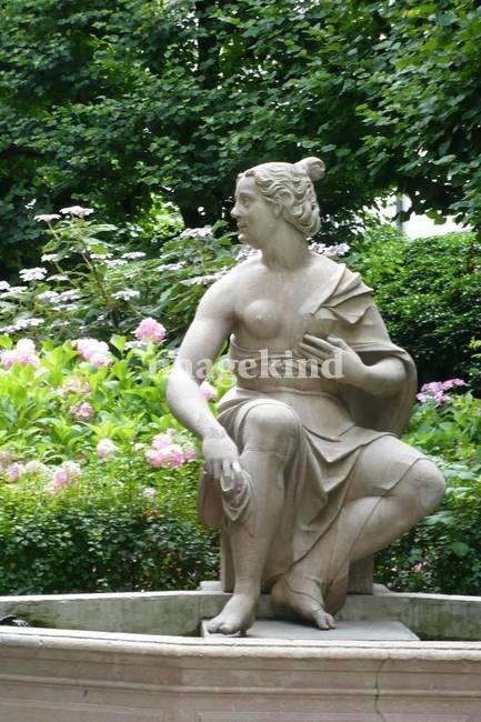 Statue of Woman in the Salzburg Garden