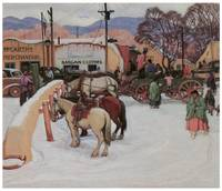 E. Martin Hennings' Taos Plaza, Winter