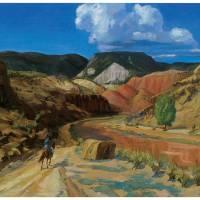 """John Sloans Chama Running Red"" by ArtLoversOnline"