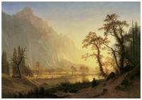 Albert Bierstadt's Sunrise, Yosemite Valley