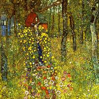 Gustav Klimt's Garden with Crucifix