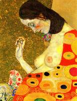 Gustav Klimt's Hope II Detail