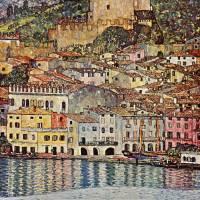 """Gustav Klimts Malcesina at the Gardasee"" by ArtLoversOnline"