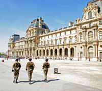 Soldiers at The Louvre