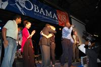 Nov. 4, 2008, at the Democratic victory party at T
