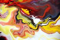 Abstract Fluid Colour Painting