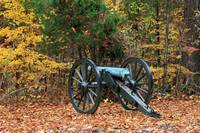 Civil War Cannon in the Fall