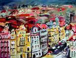 Praque Czech Republic City Painting by GInette