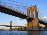 Closeup of Brooklyn Bridge