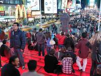 Times Square Red Stairs