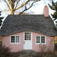 pink house Art Prints & Posters by Dave Kliman