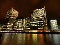 Canary Wharf lights