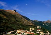 LIGURIA MOUNTAINS LANDSCAPES Moon over Cisano