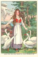 Elisa and the Wild Swans by Ella Dolbear Lee, 1917