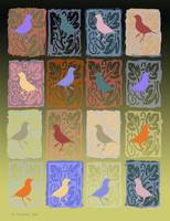 Merry Finches Quilt
