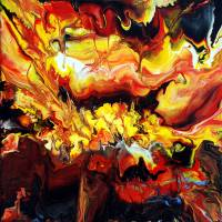 """""""Explosive Heat Abstract Painting"""" by markchadwickart"""