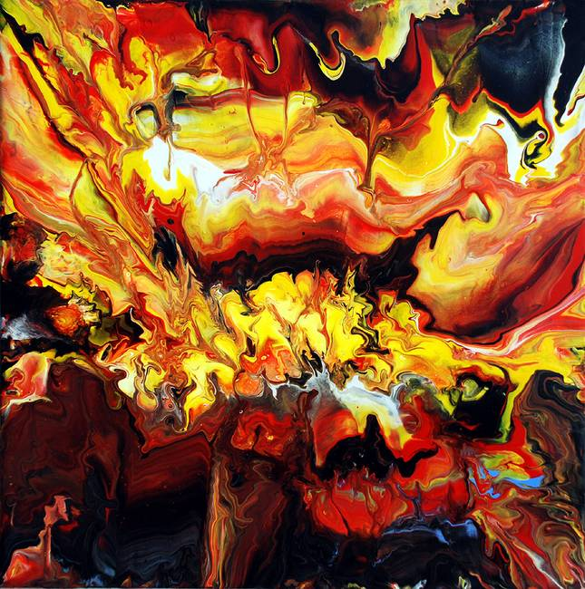 Explosive Heat Abstract Painting