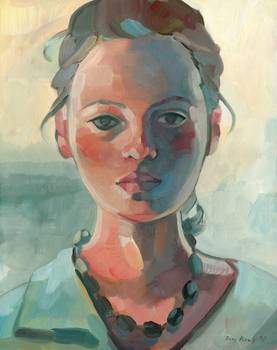 Girl with Black Necklace by Keelyart Paintings