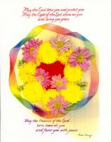 Priestly Blessing English Circle of Flowers