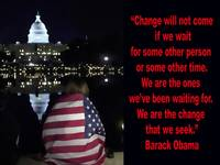 Barack Obama Change Inspiration quote.