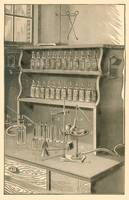 Chemistry Laboratory in 1903 book; artist unknown