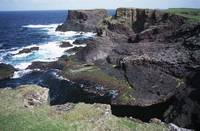 Dramatic sea cliffs at Esha Ness, Shetland Islands