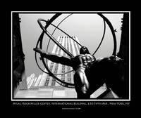 Atlas, Rockefeller Center - Black & White