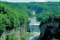 Middle Falls on Genessee River in New York