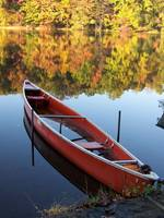Scotts Run Lake canoe (Fall)