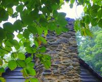 Chimney on Log Cabin