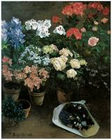 Frederic Bazille's Study of Flowers